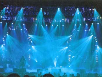 A shot of a Trans-Siberian Orchestra concert
